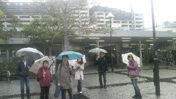 スーパーウォーキングは雨の中